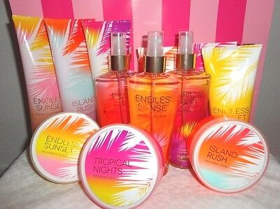 Victorias Secret Sunset Island Rush Tropical Nights Mist Cream Souffle X 1