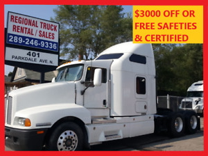 2005 KENWORTH SLEEPER NO DPF Safeties/certified or $3000 OFF
