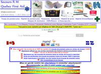 Site web de vente en ligne de matériel de premiers-soins
