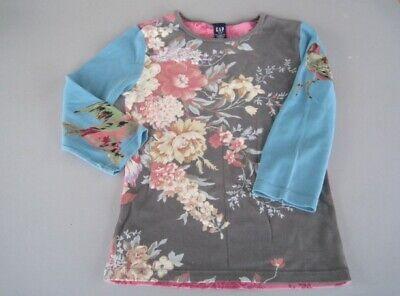 Vintage RETRO Womens 'GAP' Cotton T. Shirt, Pretty Birds And Flowers Print, S