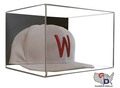 Acrylic Wall Mount Hat or Cap Display Case Clear UV Protecting GameDay Display Wall Mounted Acrylic Cap Case
