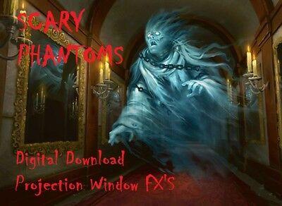 Phantom Poltergeist Halloween Window Projector Decoration Hologram Digital MP4  (Halloween Hologram Projector)