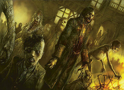 50 Zombie Cards lot with rares collection MTG Magic the gathering Black CNY