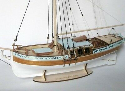 ZHL YACHT SWEDEN 1770 wood model ship kits Scale 1/24 21'' 540 mm , used for sale  China