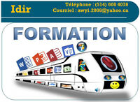 Formation: Windows, Internet, Word,PowerPoint, Access, Visio