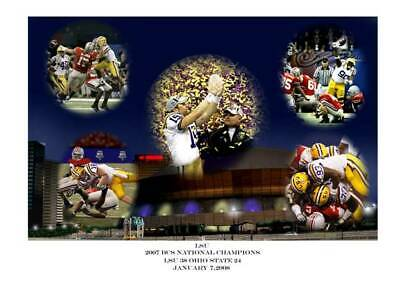 - LSU FOOTBALL BCS NATIONAL CHAMPIONS LARRY PITTS PRINT