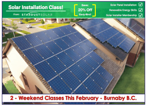 Solar Panel installation class with Stardust Solar (Weekend +1)