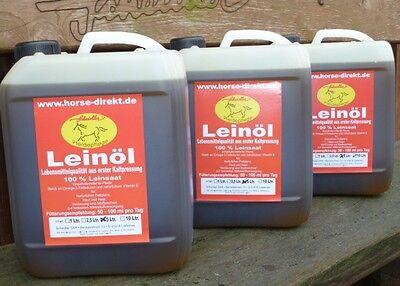 Leinöl 15 Liter - 3x5 Liter , garantierte Erstpressung - immer frische Ware