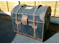 Antique Theatre Travel Storage Trunk Treasure Chest