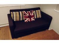 IKEA SOLSTA GREY BLUE SOFA BED GOOD CONDITION CAN DELIVER