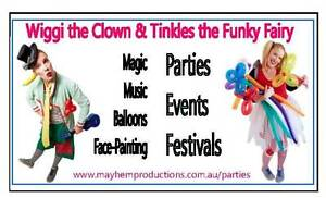 Wiggi the Clown & Tinkles the Funky Fairy Elwood Port Phillip Preview