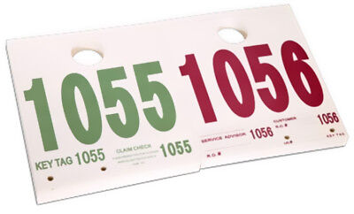 Service Car Id  Numbered Tags For Auto Service Departments