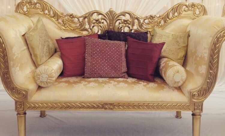 Grand Gold Sofa Set Carved Louis Italian Renaissance Stage Wedding Arabian Indian Fancy African New
