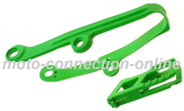 CHAIN GUIDE SWINGARM SLIDER  KAWASAKI KXF 250 KX250F 09-14 GREEN UFO 4710