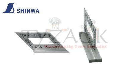 Shinwa 62162 Japanese Mitre Square Carpenters Square 45 & 135 Degrees Wide Base