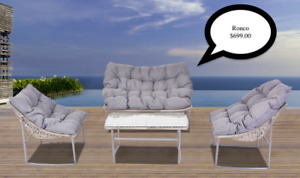 Outdoor Aluminum Resin Conversation Sets & Sectionals New Style
