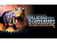 Walking with Dinosaurs 8Aug 2 tickets