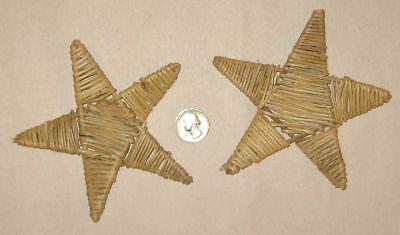 2 NATURAL VINE STAR CHEWS BIRD PARROT FOOT TOY PARTS