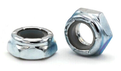 Zinc Plated Steel Nylon Insert Jam Lock Nuts Nylock Jam Nuts - Size #4 to 1-1/2