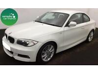 £255.00 PER MONTH WHITE 2012 BMW 120i 2.0 M SPORT STEP COUPE PETROL AUTO