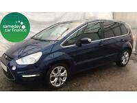 £183.31 PER MONTH BLUE 2010 FORD S-MAX TITANIUM 7 SEATER DIESEL MANUAL