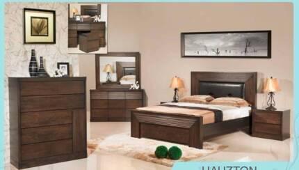 4 pce Hauzton Queen Bedroom Suite AV At Both Showrooms
