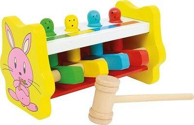 Klopfbank Farbzuordnung aus Holz Klopfen Hammer Klopfspiel Spielzeug für Kinder