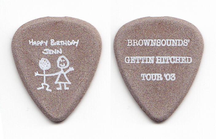"Sum 41 Dave ""Brownsound"" Baksh Gettin Hitched Brown Guitar Pick - 2003 Tour"