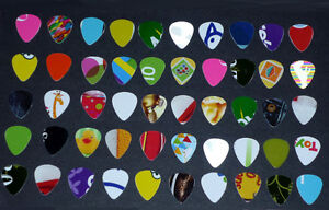 50 Guitar picks : One-of-a-Kind : Various Colors,Designs,Images Cambridge Kitchener Area image 1