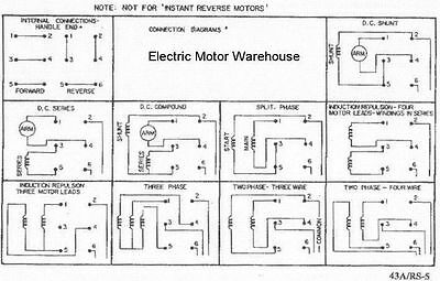 2 hp-7.5 hp Electric Motor Reversing Drum Switch 1 & 3 Phase ... on