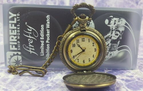 FireFly Serenity Shepherd Book Exhibition Pocket Watch Limited Edition Metal New