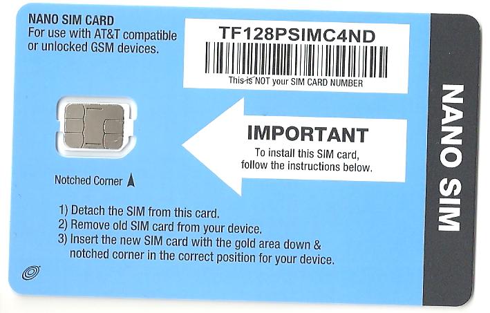 Straight Talk AT&T Nano SIM Card Bring Your Own Phone