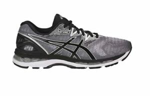 ASICS 9 1/2 Men's Gel Nimbus 20 Running Shoes -Grey/Black/Silver