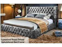 Luxurious Royal Deluxe Upholstered Bed Frame (KING SIZE)