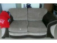 DFS CREAM AND CHOCOLATE 2 seater