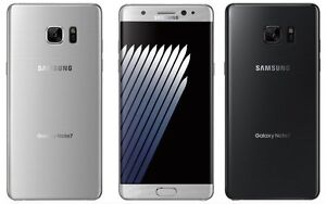 New Samsung Galaxy Note 7 Silver with bill