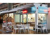 (MAYFAIR) LOLA'S CUPCAKES - Join our team for a great career ! (PART TIME)