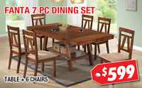 Fanta 7pc Dining Set Now On Sale for $599