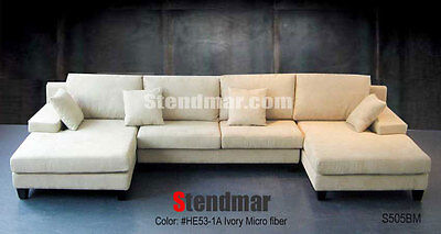 4-Pc Modern European-Design Fabric Sectional Sofa Set S505BM