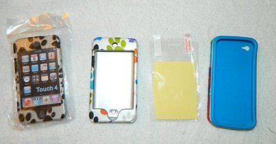 2 Paw Print cases for iPod Touch, 1 Colorful Paw Print Case for iPhone 4S Screen for sale  Rochester