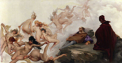 The Dream of Falero  by Luis Ricardo Falero   Giclee Canvas Print  Repro  Dreams Giclee Print