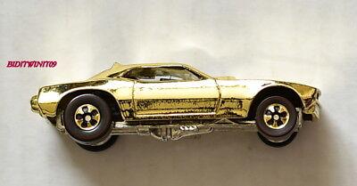 VINTAGE HOT WHEELS GOLD MONGOOSE FUNNY CAR SNAKE GOLD LOOSE W+