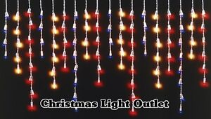 100-Red-White-Blue-USA-Patriotic-Icicle-Christmas-Mini-Lights-Set-9ft-White-Wire