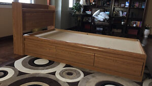 3 drawers twin storage bed and mattress