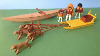 Vintage PLAYMOBIL 3466 KAYAK AND DOG SLED - ARCTIC EXPEDITION ES