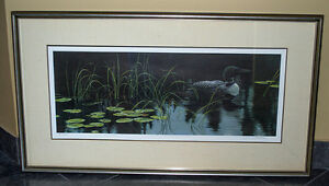 Robert Bateman - Lily Pads and Loon framed s/n