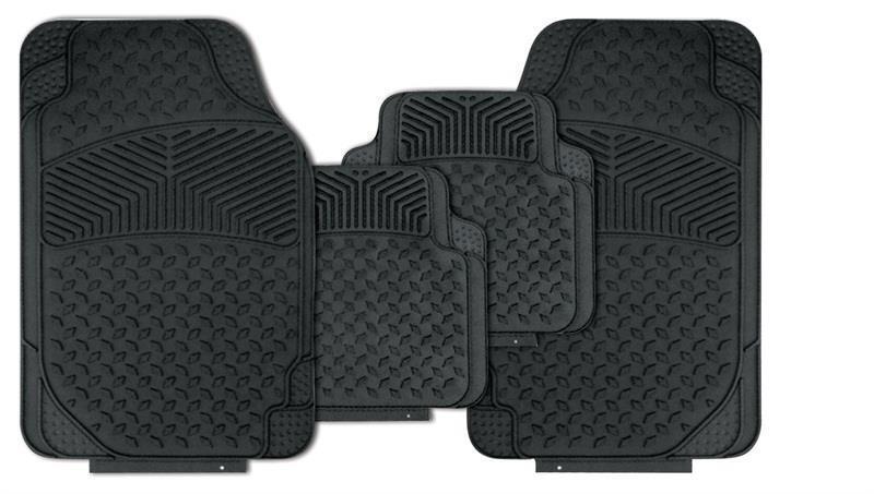 BLACK Heavy Duty Deep Tray Rubber Floor Mats fits LEXUS (RM63)