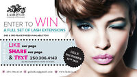 WIN a FREE set of Faux Mink Eyelash Extensions Winnipeg