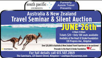 Travel Seminar & Silent Auction Fundraiser June 26th
