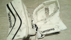 Lefty (Southpaw) High End Senior Reebok Goalie Blocker/Glove